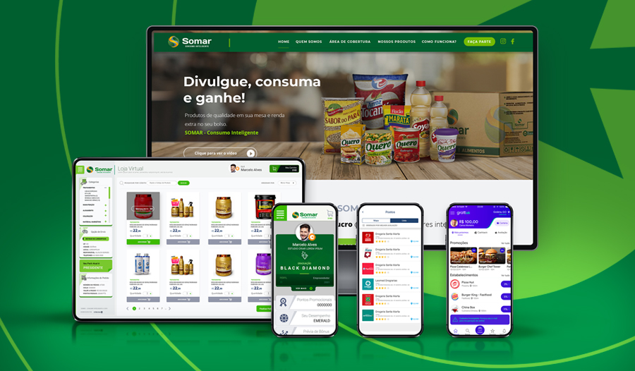 Sistema de venda direta marketing multinível